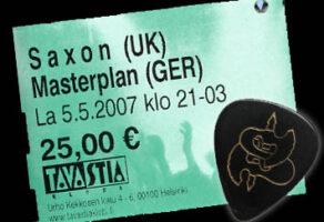 SAXON/MASTERPLAN/HELLFUELED – Helsinki 5.5.2007
