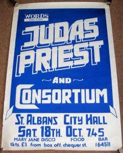 Gig poster, 1975.