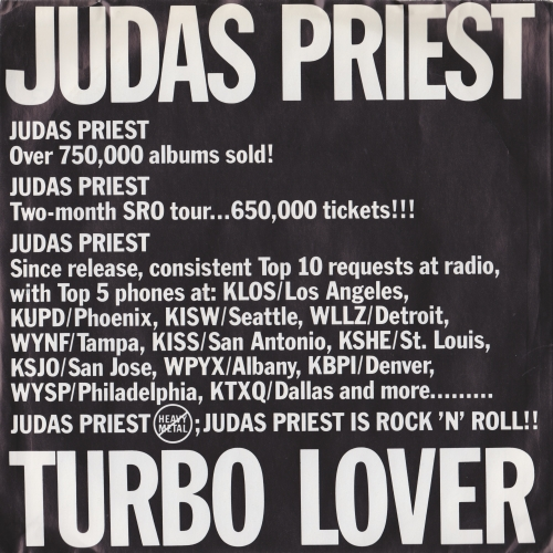 Turbo Lover / Turbo Lover, 7inch promo