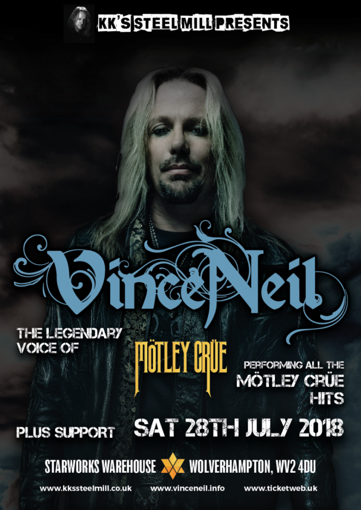 KK`s Steel Mill presents- Vince Neil