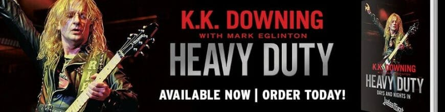 "K.K. Downing dedicated copy of ""Heavy Duty – Days And Nights In Judas Priest"" available for Christmas!"