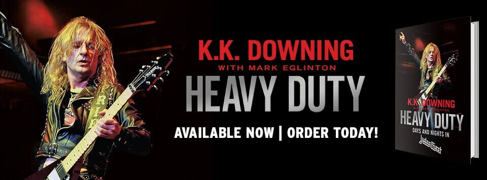 "K.K. Downing dedicated copy of ""Heavy Duty - Days And Nights In Judas Priest"" available for Christmas!"
